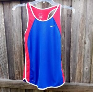 Women's Nike Red White Blue Racerback Tank Top XS